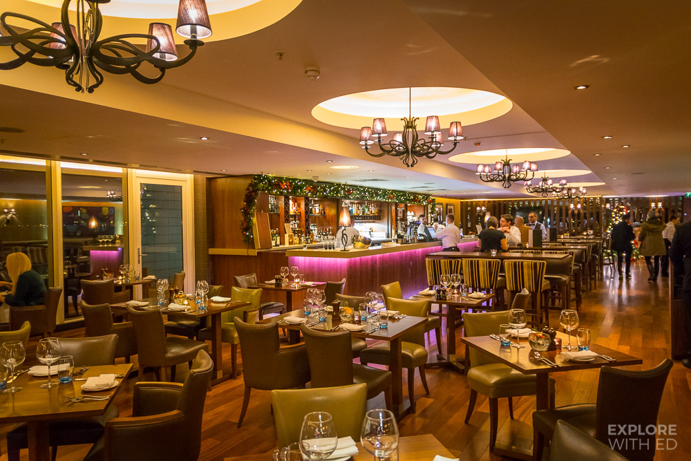 Stylish interior of Tempus at Tides Bar and Restaurant
