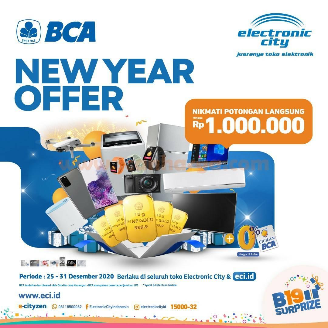 Electronic City Promo Potongan Diskon Rp 1.jt dengan Kartu Kredit BCA