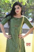 Akshitha cute beauty in Green Salwar at Satya Gang Movie Audio Success meet ~  Exclusive Galleries 015.jpg