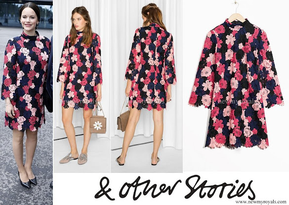 Princess Sofia wore a & Other Stories floral crochet dress