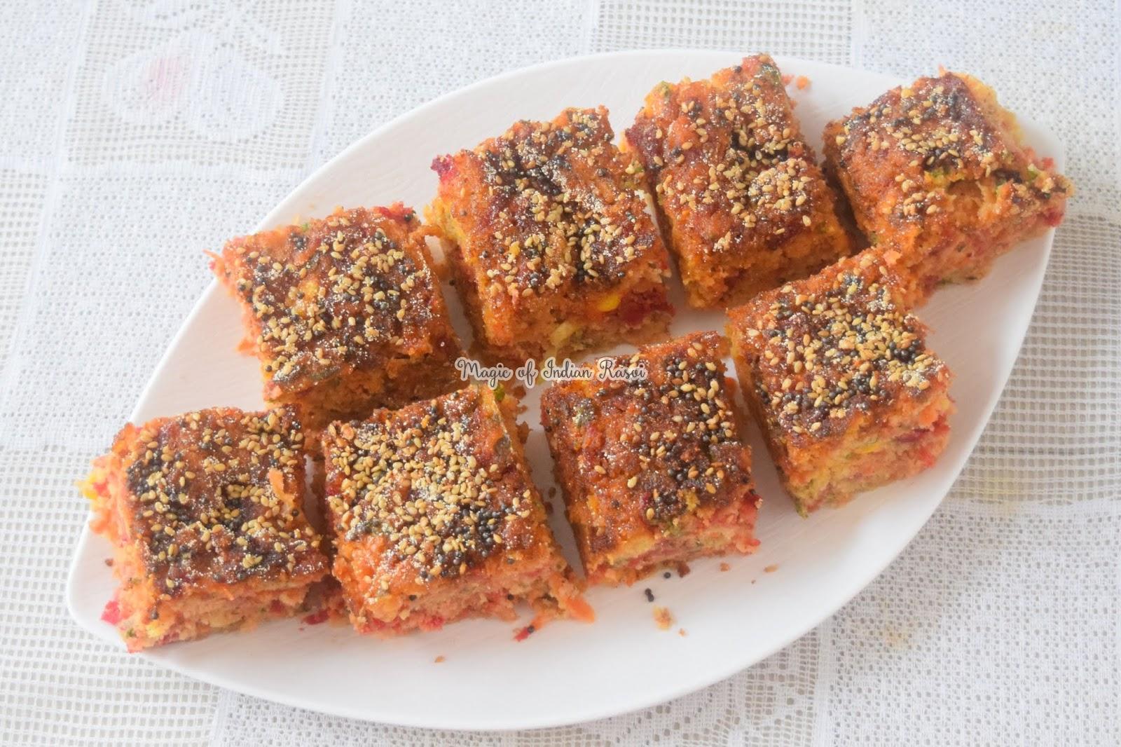 Healthy Gujarati Handvo Recipe - पौष्टिक गुजराती हांडवो रेसिपी - Priya R - Magic of Indian Rasoi