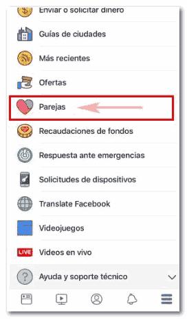 """Ver función """"Parejas"""" en Facebook - MasFB"""