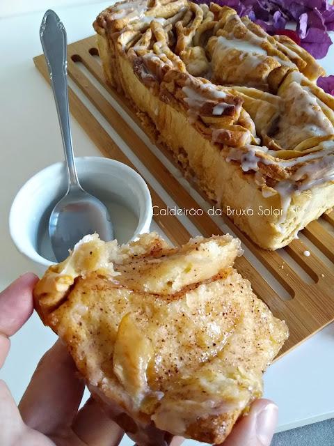 Pão Pull Apart de maçã