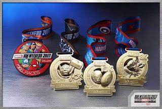 Hong Kong Disneyland 10K Weekend 2017 médailles