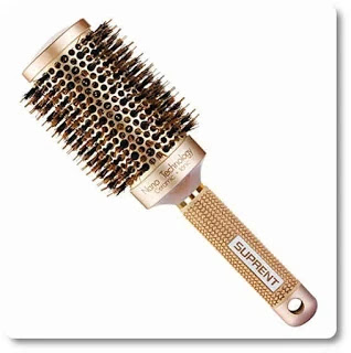 Ceramic & Ionic Round Hair Brush with Boar Bristle by Suprent