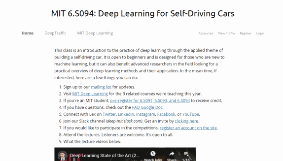 Deep Learning And Self Driving Cars