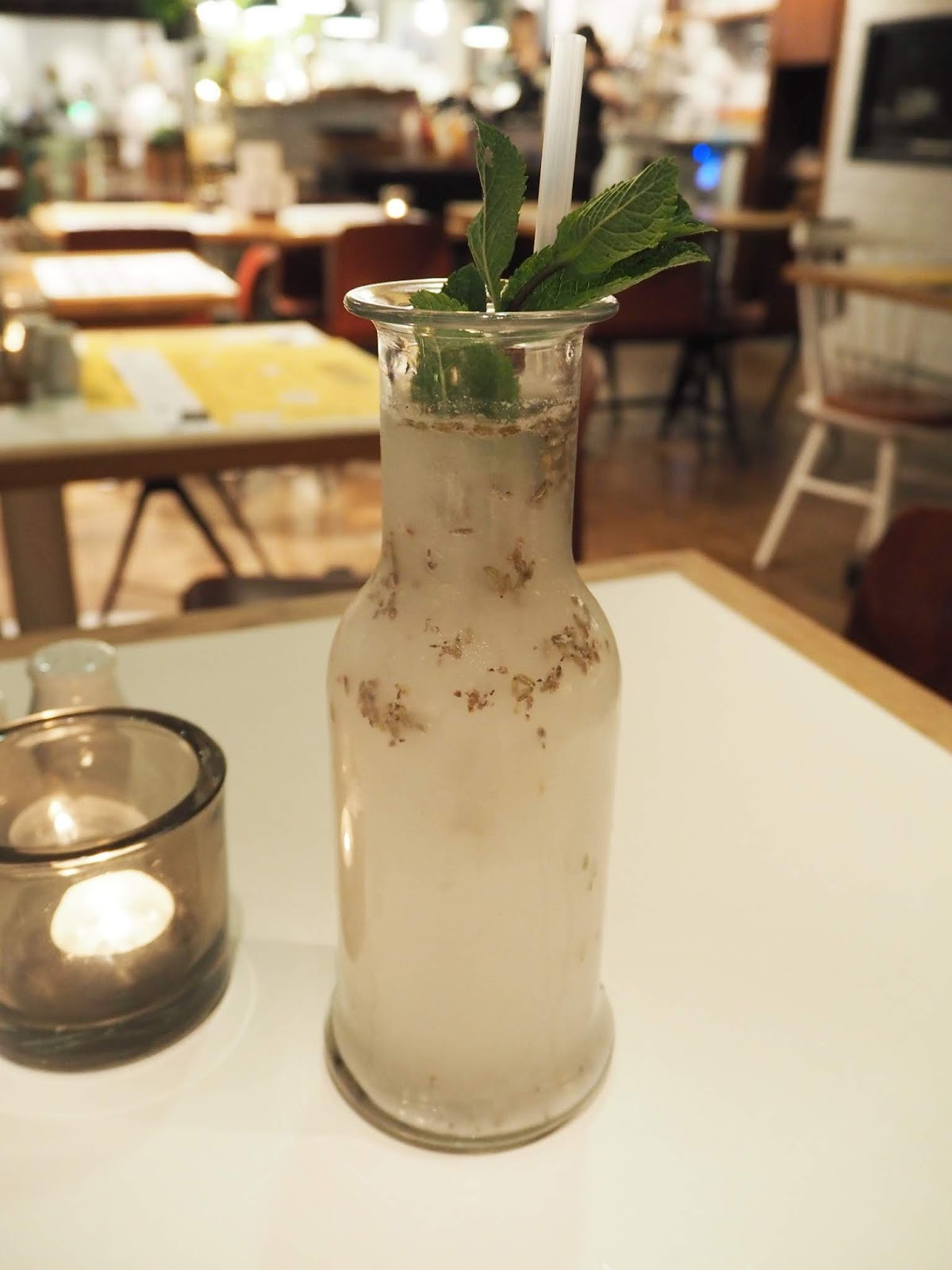 coconut lemonade served at hotel daniel in vienna