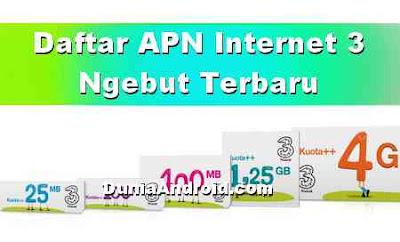 7 Settingan APN Internet Tri 4G Tercepat Terbaru