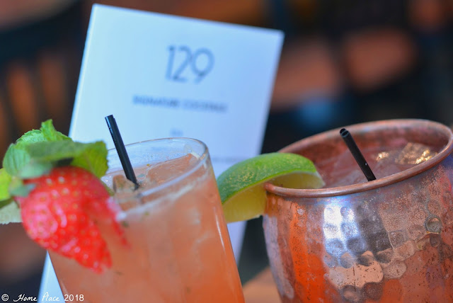 Delicious Cocktails at 129 Restaurant in New Canaan CT