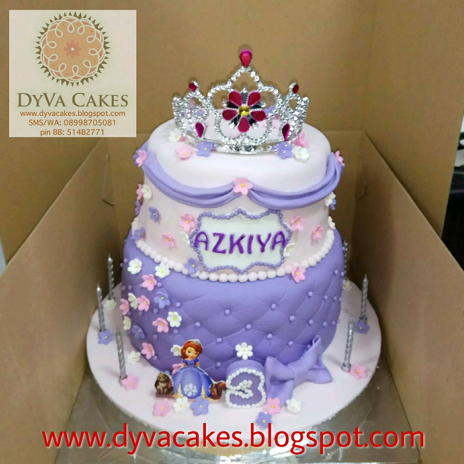 DyVa Cakes Princess Sofia Birthday Cake
