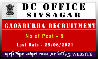 Sivsagar DC Office Recruitment - Gaonburha Post