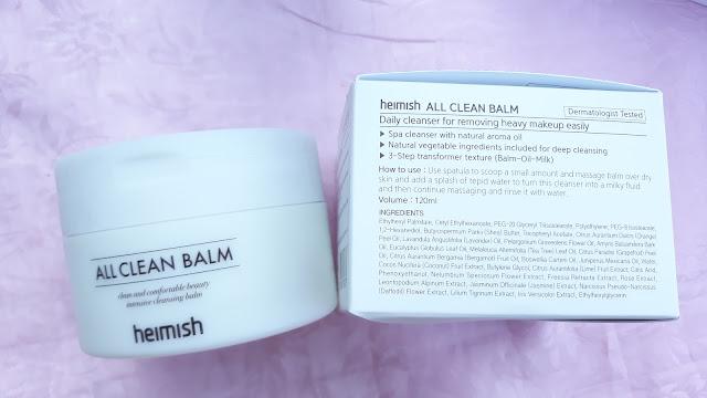 Heimish All Clean Balm 120ml / Php 840