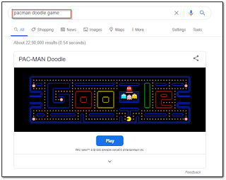 pacman google doodle game