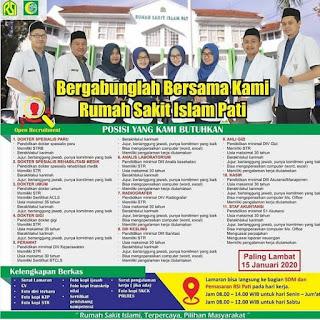 Lowongan Kerja Dokter, Perawat, ATLM, Radiografer, Kesling, Ahli Gizi, Kasir, Staf Akuntansi RS Islam Pati