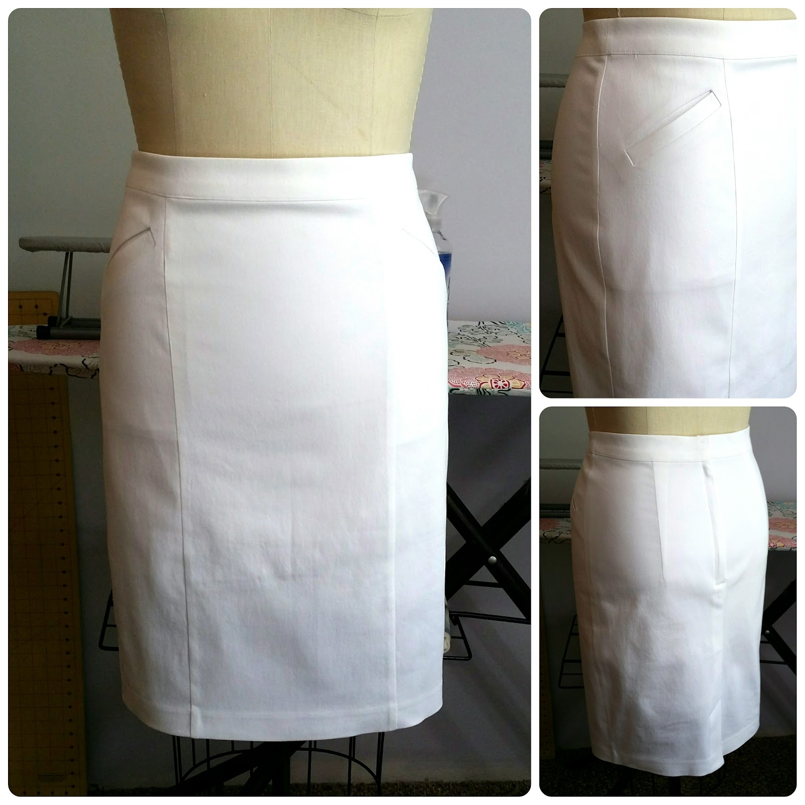 White apron joann fabrics - My Wardrobe Was Missing A Casual White Skirt So I Picked A Great Machine Washable White Stretch Denim From Joann Fabrics And Since This Skirt Is Lined