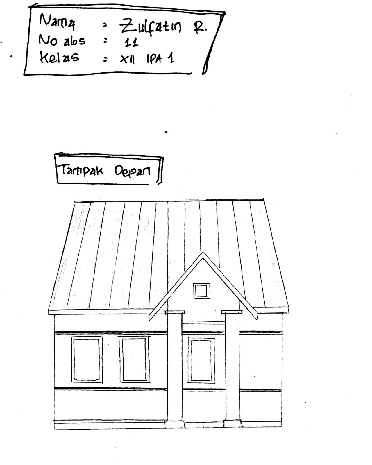 Image Result For Gambar Sketsa Rumah Kecil Minimalis