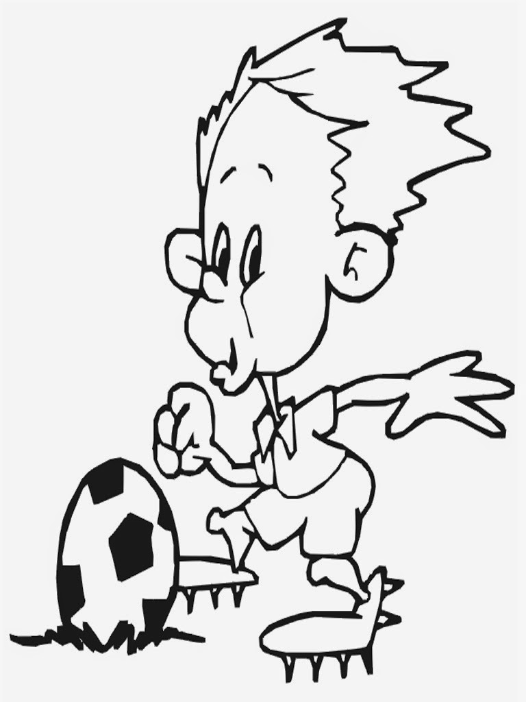 soccer player coloring sheets