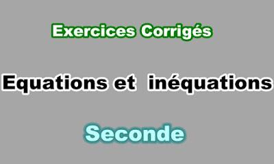 Exercices Corrigés Résolution Graphique des Equations et Inéquations Seconde PDF