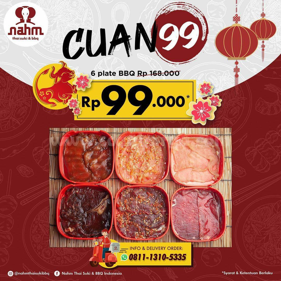 Nahm Thai Suki & BBQ Promo Cuan 99! Paket 6 Plate BBQ hanya Rp 99K