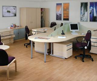 Mẫu bàn ghế văn phòng hiện đại khu vực của nhân viên