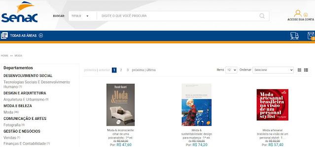 foto do site da livraria senac
