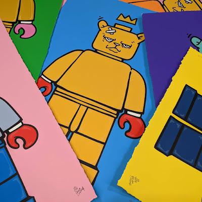 "The Bear Champ ""Bear & Square"" Screen Print by JC Rivera x All Star Press Chicago"