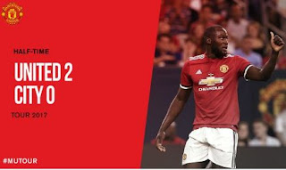 HT: Manchester United vs City 2-0 ICC 2017 plus Video Gol