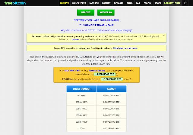 Freebitcoin bitcoin gratis, Roll cada hora