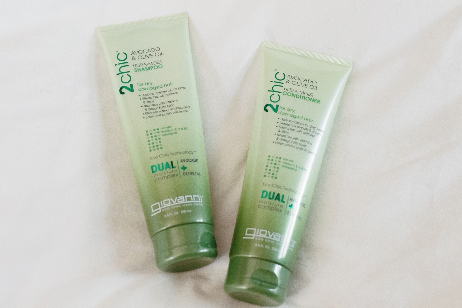 Giovanni 2chic moisturizing shampoo and conditioner with avocado and olive oil