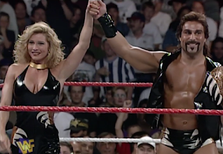 WWF / WWE - IN YOUR HOUSE 9: International Incident - Marc Mero and Sable before Mero's match with Stone Cold Steve Austin