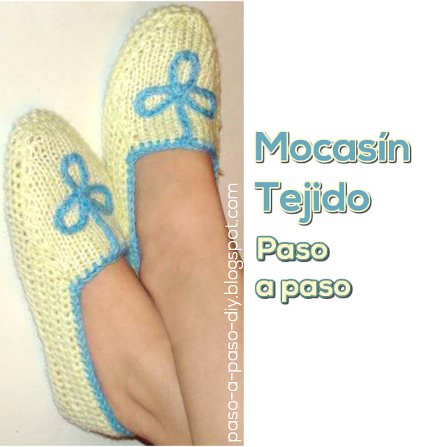 tutorial mocasines tejidos DIY