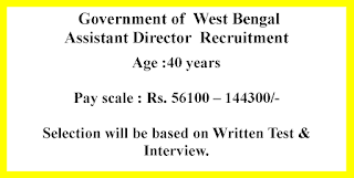 Assistant Director  Recruitment - Government of  West Bengal