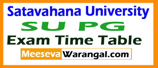Satavahana University SU PG Exam Time Table 2017