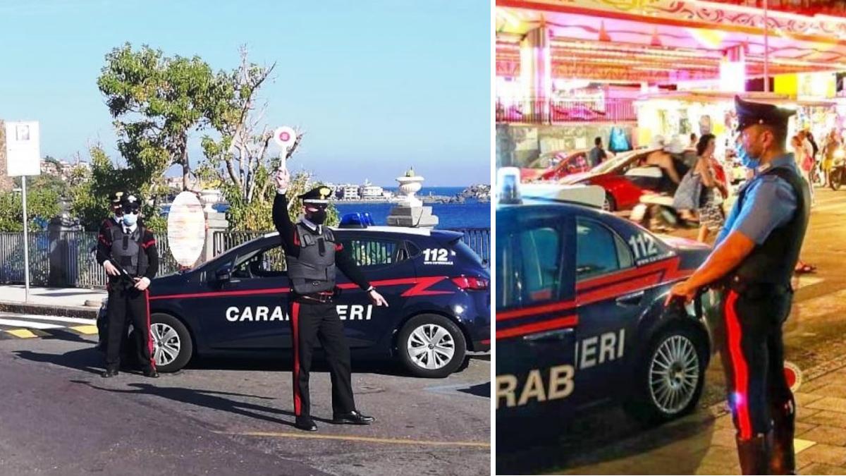 Aci Castello Carabinieri controlli anti Covid
