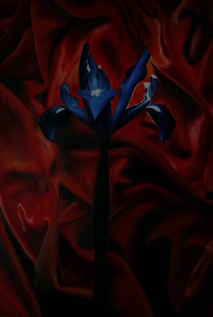 Iris, Oil on canvas, Jessica Shepherd