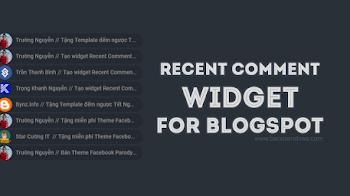 Tạo Widget Recent Comment với Avatar bo tròn và Tiêu đề bài viết