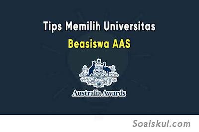 Tips Memilih Universitas Terbaik Untuk Beasiswa AAS
