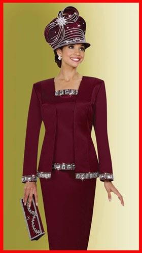 Church Suit Blog Ladies Church Suits Women Wine Color