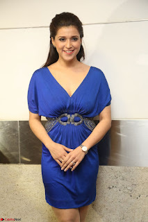 Mannara Chopra in Short Blue Dress at Rogue Movie Teaser Launch 1st March 2017 132.JPG