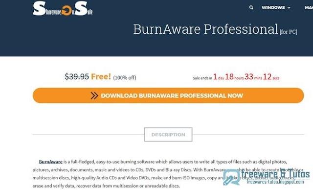 Offre promotionnelle : BurnAware Pro gratuit !