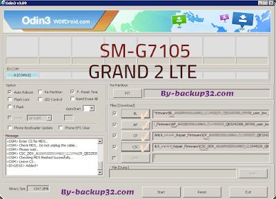 سوفت وير هاتف GALAXY GRAND 2 LTE موديل SM-G7105 روم الاصلاح 4 ملفات تحميل مباشر