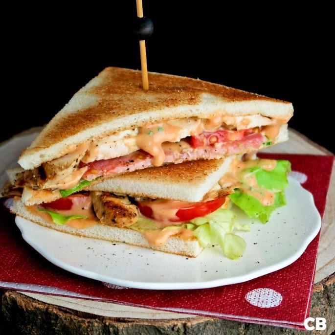 Recept De allerlekkerste clubsandwich: met gegrilde kip en bacon