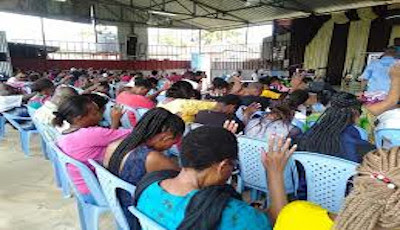 JCC church service in Mtwapa in a past event. PHOTO | BMS