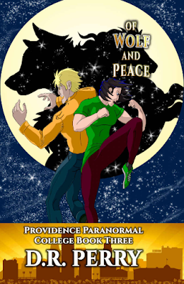 Of Wolf and Peace, Providence Paranormal College Romance, D.R. Perry, book review, On My Kindle book reviews