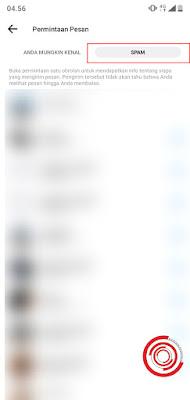 3. Jika Spam atau Pesan Yang Di Filter ialah orang yang tidak berteman dengan akun Facebook kita dan tidak memiliki daftar teman yang sama, sama sekali
