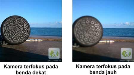 kamera terfokus pada benda (objek) dekat dan jauh-pemfokusan kamera