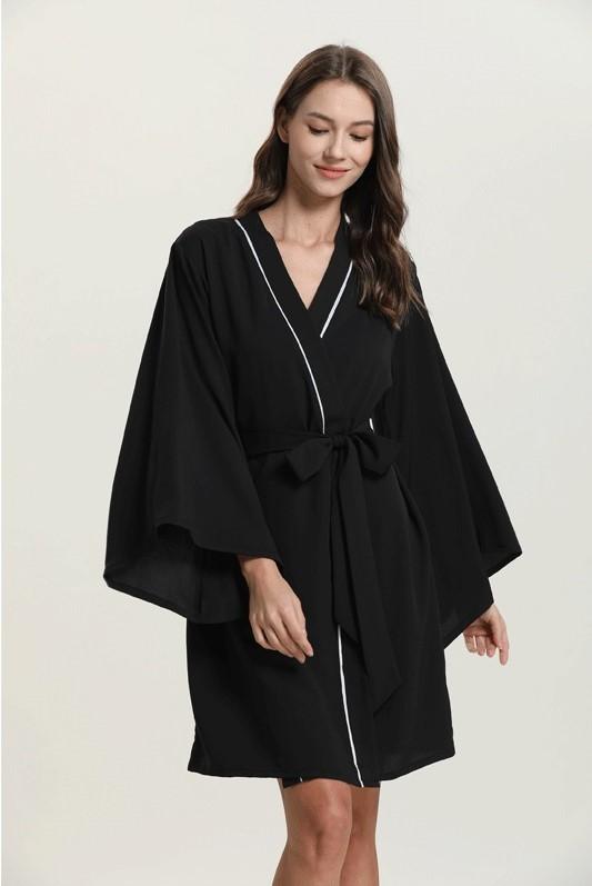 Áo choàng voan kimono form rộng thướt tha 1