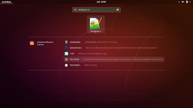 instalasi notepad++ berhasil