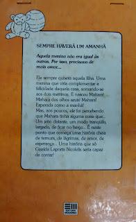 Sempre haverá um amanhã. Giselda Laporta Nicolelis. Editora Moderna. Coleção Veredas. Contracapa de Livro. 1989.