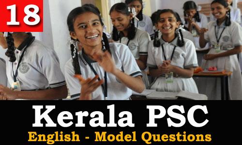 Kerala PSC - Model Questions English - 18